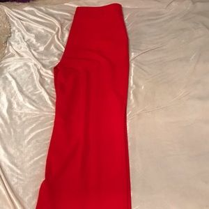 Red Modern Pants